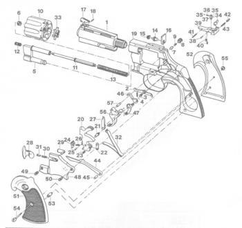 Colt Python Hahnfeder / Mainspring Ersatzteil