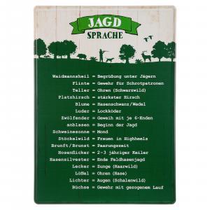 Metallschild ''Jägersprache''