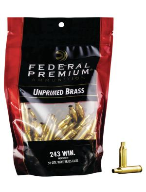 Federal Hülsen .243 Win. inkl. Federal Zündhütchen #210 large Rifle 50 Stück
