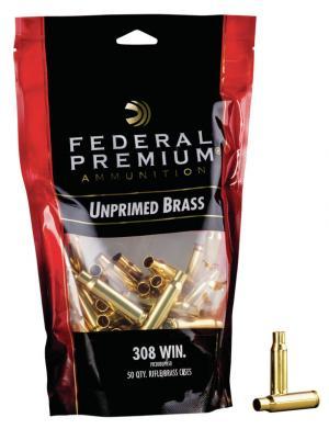Federal Hülsen .308 Win. inkl. Federal Zündhütchen #210 large Rifle 50 Stück