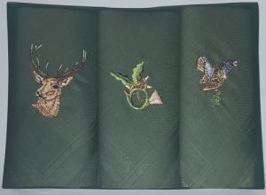 Taschentücher f. Herren aus 100% Baumwolle verschiedene Motive Hirsch/Horn/Auer 3er Pack in der Geschenkverpackung