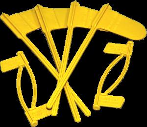 MTM Ladestandsanzeige Fähnchen CFP gelb 8 Stück (4 Pistole/4 Gewehr)