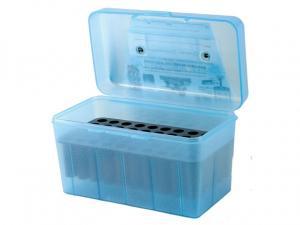 MTM Deluxe Patronenbox H50-RL-10 blau klar mit Klappdeckel und Tragegriff f. 50 Patronen .30-06 u.w.