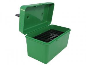 MTM Deluxe Patronenbox H50-RM-10 grün mit Klappdeckel und Tragegriff f. 50 Patronen .308 u.w.