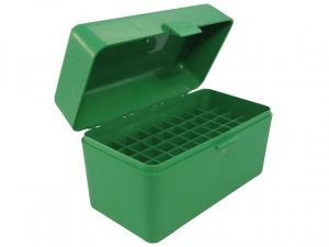 MTM Patronenbox RL-50-10 grün mit Klappdeckel f. 50 Patronen .270 u.w.