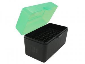 MTM Patronenbox RL-50-16T grün/schwarz mit Klappdeckel f. 50 Patronen .270 u.w.