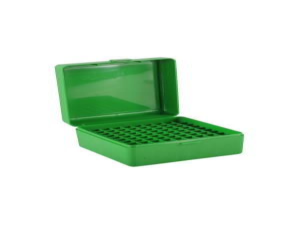 MTM Patronenbox RM-100-10 grün mit Klappdeckel f. 100 Patronen .308 u.w.