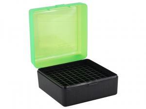 MTM Patronenbox RM-100-16T grün/schwarz mit Klappdeckel f. 100 Patronen .308 u.w.