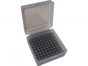 MTM Patronenbox RM-100-41 rauch klar mit Klappdeckel f. 100 Patronen .308 u.w.