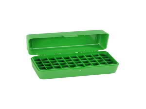 MTM Patronenbox RM-50-10 grün mit Klappdeckel f. 50 Patronen .22-250 u.w.