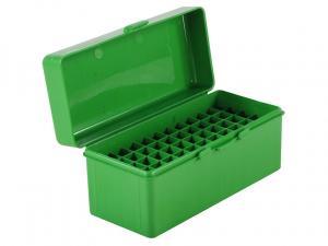 MTM Patronenbox RM-60-10 grün mit Klappdeckel f. 60 Patronen .22-250 - .308 u.w.