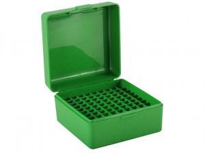 MTM Patronenbox RS-100-10 grün mit Klappdeckel f. 100 Patronen .223 u.w.