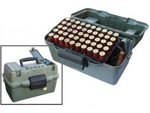 MTM Deluxe Schrotpatronenbox SF-100D-09 camo mit Tragegriff für 100 Schrotpatronen .12 / .20