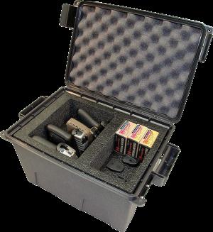 MTM Transportkiste für Pistolen TPC4 dunkelgrau