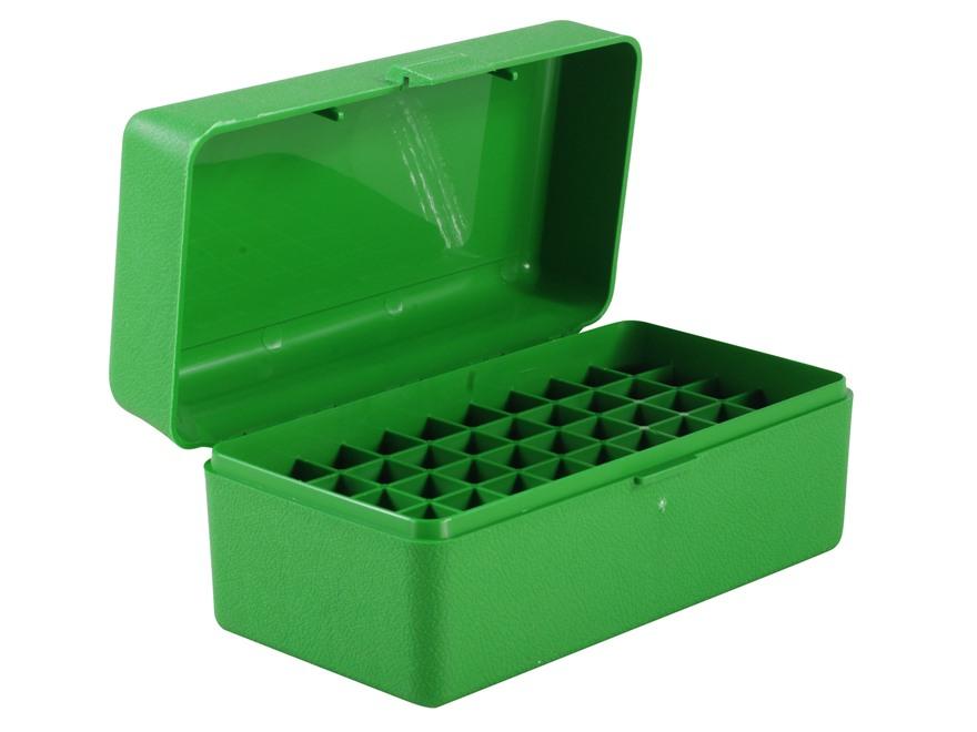 MTM Patronenbox RMLD-50-10 grün mit Klappdeckel f. 50 Patronen .45-70 u.w.
