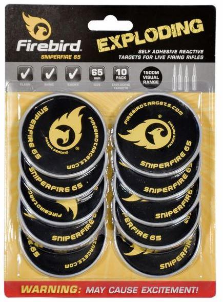 Firebird Targets SniperFire 65mm für das Kurz- & Langwaffenschießen